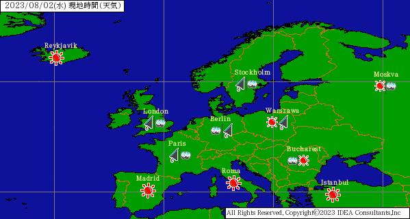 ヨーロッパの天気
